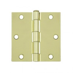 "Deltana 3-1/2"" x 3-1/2"" Square Corner Steel Hinge"