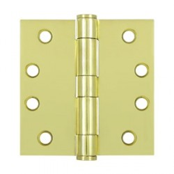 "Deltana S44HD 4"" x 4"" Square Corner Heavy Duty Steel Hinge"