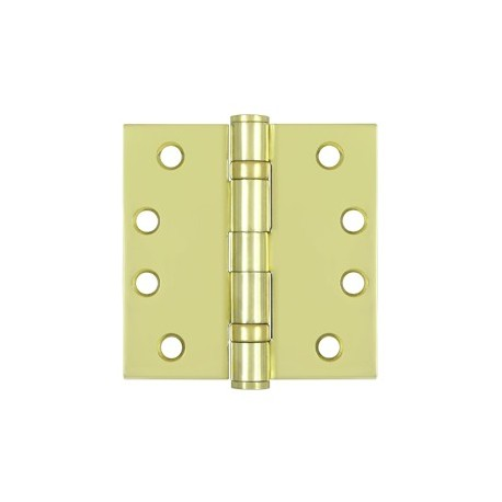 "Deltana 4"" x 4"" Square Corner Heavy Duty Steel Hinge with 2 Ball Bearings"