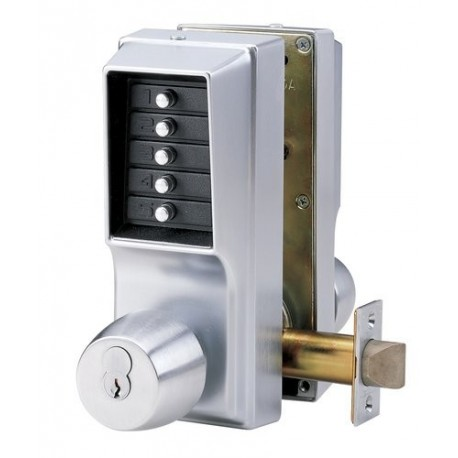 Kaba EE1015/EE1025B26D Two Sided Mechanical Cipher Keyless Pushbutton Door  Lock With Knob