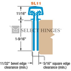 Select SL11 Concealed Geared Continuous Hinge