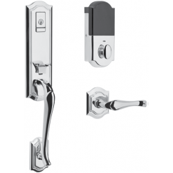 Baldwin Estate Series Evolved Bethpage Emergency Egress Handleset w/ 5077 Bethpage Knob or 5447V Bethpage Lever