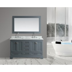 "OMEGA 61"" Double Sink Vanity Set in Country Gray"