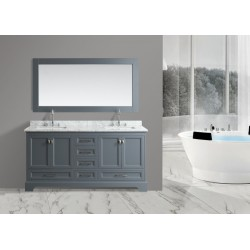 "OMEGA 72"" Double Sink Vanity Set in Country Gray"