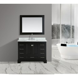 "OMEGA 48"" Single Sink Vanity Set in Espresso"