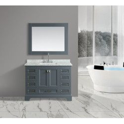 "OMEGA 48"" Double Sink Vanity Set in Country Gray"