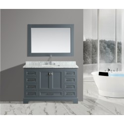 OMEGA 54 Single Sink Vanity Set in Country Gray