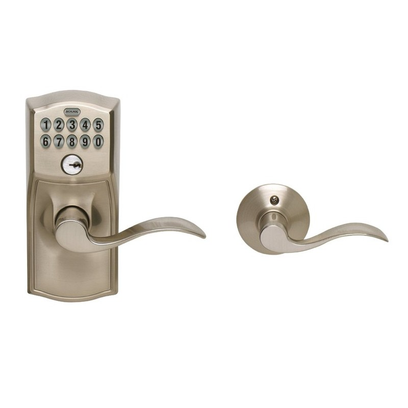Schlage Fe575 Camelot Keypad Entry Auto Lock With Accent Lever