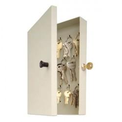 MMF 201201489 14-Key Hook-Style Key Cabinet-Putty
