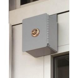 MMF 201985101 Door-Mounted Key Box Keyed Alike-Gray