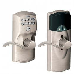 Nexia FE599NX Camelot Style Home Security (Schlage LiNK Enabled) Add-On Keypad Lock with Lever
