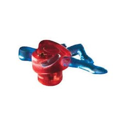 SIRO-H064-80 Fantasia Heart Man in Red and Blue Knob