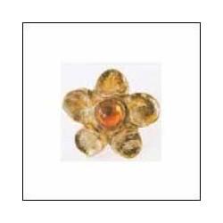 Emenee-OR187S Flower Design Knob with Stones
