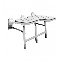 Bobrick B-918116 Bariatric Folding Shower Seat with Legs