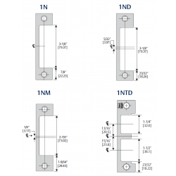 HES 1DB / 1 DB-2 Faceplate & Specialty Option Kits for 1600 Series Electric Strikes