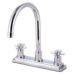 Kingston Brass KS879 Concord Two Handle Kitchen Faucet w/ cross handles