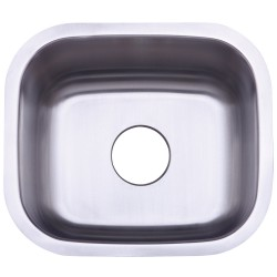 Kingston Brass KU14167BN Gourmetier Country Stainless Steel Single Bowl Undermount Kitchen Sink, Satin Nickel