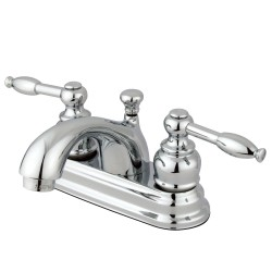Kingston Brass GKB260 Water Saving Knight Centerset Lavatory Faucet w/ Lever Handles & Retail Pop-Up