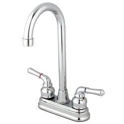 Kingston Brass GKB49 Water Saving Magellan Centerset Bar Faucet w/ Lever Handles