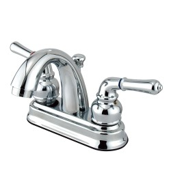 Kingston Brass GKB561 Water Saving Naples Centerset Lavatory Faucet w/ Metal Lever Handles