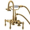 "Kingston Brass CC1 Vintage 3-3/8"" Deck Mount Clawfoot Tub Filler w/ metal levers"
