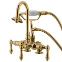 "Kingston Brass CC1 Vintage 3-3/8"" Deck Mount Clawfoot Tub Filler w/ metal levers"