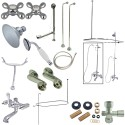"""Kingston Brass CCK1141AX Vintage Clawfoot Tub Package w/ 22"""" Supply Lines"""