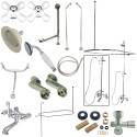 """Kingston Brass CCK1181PX Vintage Clawfoot Tub Package w/ 24"""" Supply Lines"""
