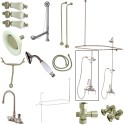 Kingston Brass CCK2148PL Vintage Clawfoot Tub Package w/ High Rise Goose Neck