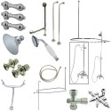 """Kingston Brass CCK314 Vintage Clawfoot Tub Package w/ 22"""" Supply Lines"""
