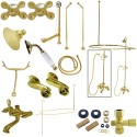 Kingston Brass CCK118 Vintage Clawfoot Tub Wall Mount Package w/ Metal Cross Handles