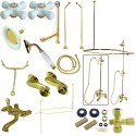 Kingston Brass CCK118 Vintage Clawfoot Tub Wall Mount Package w/ Porcelain Cross Handles
