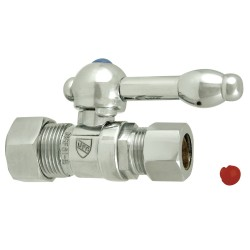 """Kingston Brass CC4445 Vintage Straight Stop With 5/8"""" OD Compression x 1/2"""" OD Compression w/ KL lever handles"""