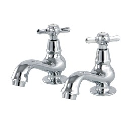 Kingston Brass KS110 Basin Tap Faucet with Cross Handle