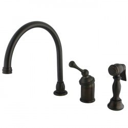 Kingston Brass KB3815BL Buckingham Single Kitchen Faucet w/ Sprayer