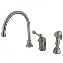 Kingston Brass KB3818BL Buckingham Single Kitchen Faucet w/ Sprayer