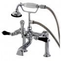 Kingston Brass AE10 Aqua Eden Duchess Deck Mount Clawfoot Tub Faucet w/ lever handles