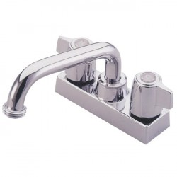 Kingston Brass GKB470 Water Saving Franklin Laundry Tray Faucet w/ Canopy Handles, Chrome