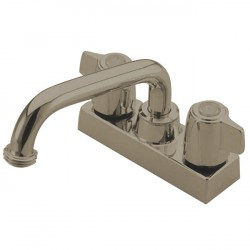 Kingston Brass GKB470SN Water Saving Franklin Laundry Tray Faucet w/ Canopy Handles, Satin Nickel