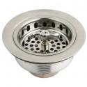 Kingston Brass K211 Gourmetier Made to Match Stainless Steel Kitchen Sink Waste Basket, Satin Nickel