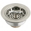 Kingston Brass K211 Gourmetier Made to Match Stainless Steel Kitchen Sink Waste Basket, Satin Nickel