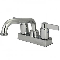Kingston Brass KB247 NuvoFusion Two Handle 4-inch Centerset Laundry Faucet