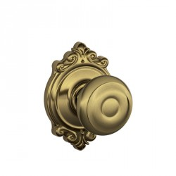 Schlage Georgian Door Knob with Brookshire Decorative Rose