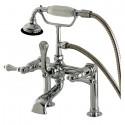 Kingston Brass AE10 Aqua Eden Vintage Deck Mount Clawfoot Tub Faucet w/ lever handles