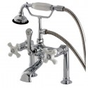 Kingston Brass AE112T1 Aqua Eden Vintage Deck Mount Clawfoot Tub Faucet