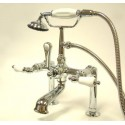 "Kingston Brass CC106T1 Vintage 7"" Deck Mount Clawfoot Tub Filler w/ Hand & Shower"