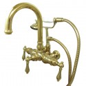"Kingston Brass CC301 Vintage 3-3/8"" Wall Mount Clawfoot Tub Filler w/ metal levers"