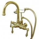 "Kingston Brass CC301 Vintage 3-3/8"" Wall Mount Clawfoot Tub Filler w/ metal levers"