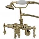 "Kingston Brass CC4 Vintage Adjustable 3-3/8"" - 10"" Center Deck Mount Clawfoot Tub Filler w/ metal lever"