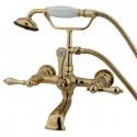 Kingston Brass CC5 Vintage Wall Mount Clawfoot Tub Filler w/ metal lever